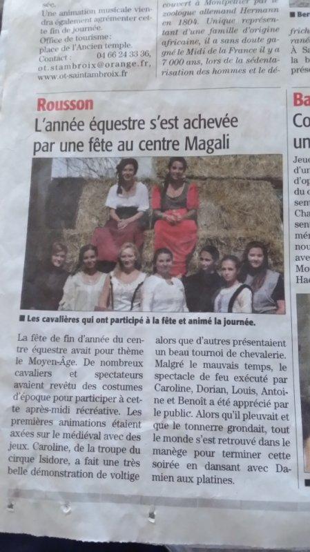 Article du Midi Libre du 28 juillet 2014