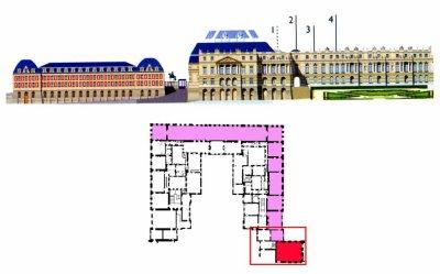 Premier étage - Aile centrale - Les grands appartements - 1 Salon d'Hercule