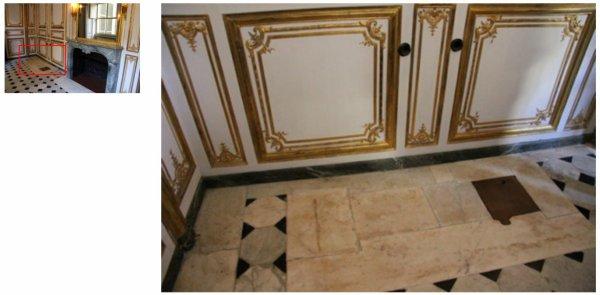Premier étage - Aile centrale - Appartement intérieur du roi - 22 a Salle de bain Louis XVI