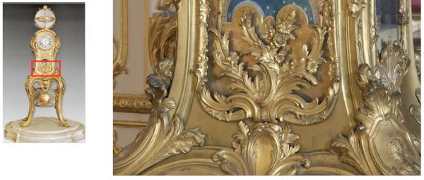 Premier étage - Aile centrale - Appartement intérieur du roi - 24 Cabinet de la pendule.