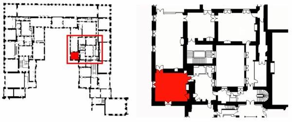 Premier étage - Aile centrale - Appartement intérieur du roi - 27 Cabinet d'angle.