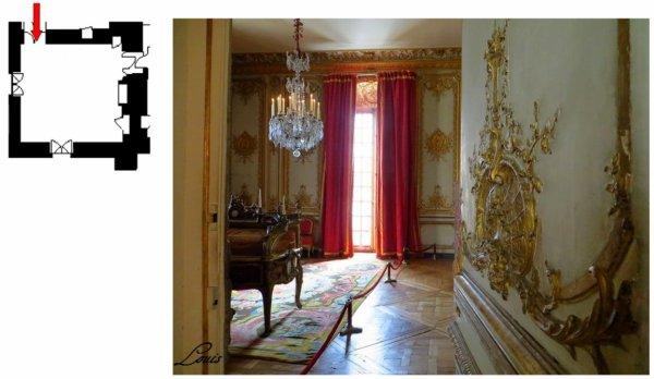 Premier étage - Aile centrale - Appartement intérieur du roi - 27 Cabinet d'angle