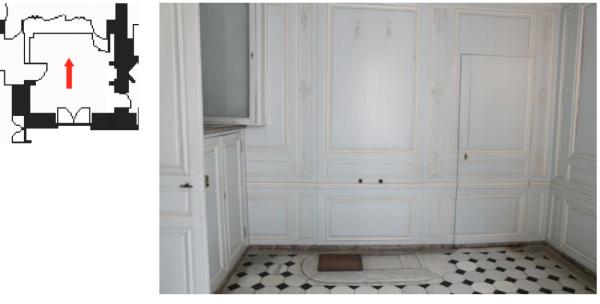 Premier étage - Aile centrale - Cabinets intérieurs de la reine - 37 Salle de bain