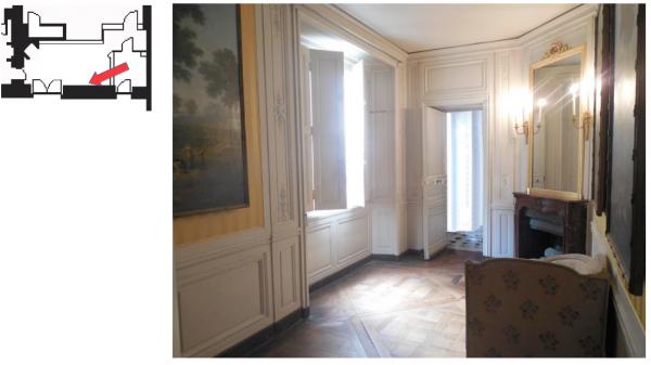 Premier étage - Aile centrale - Cabinets intérieurs de la reine - 38 Chambre des bains
