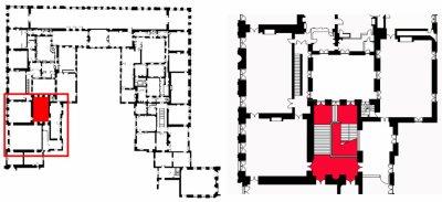 Premier étage - Aile centrale - Escaliers - Escalier de la reine