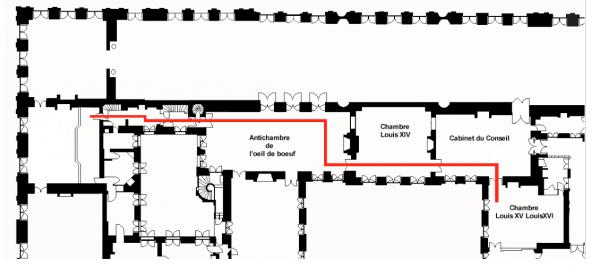 Premier étage-Aile centrale-Escaliers-46-Escalier du passage du roi.