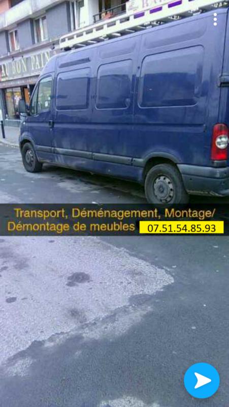 Demenagement Transport Montage tout type de meuble
