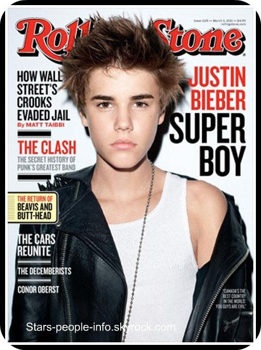 "Justin bieber For "" Rolling Stone """