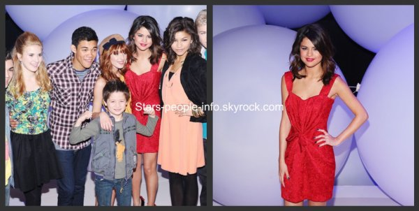Selena était présente au disney kids and family Upfront organisé par disney à New York le 16 mars 2011