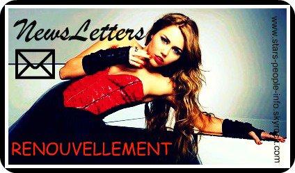 NewsLetters Renouvellement :D ♥