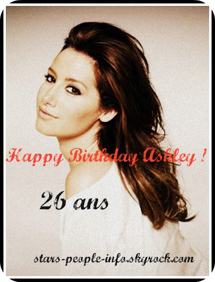 Happy Birthday Ashley Tisdale =)