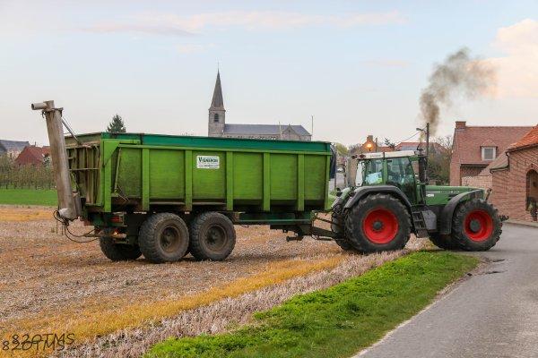 Epandage d'engrais pour les pommes de terre