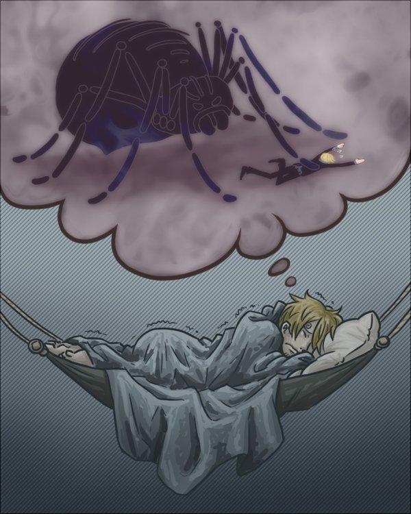 La peur bleu des araignée ( sanji histoire )
