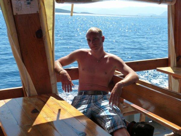 moi sur le bateau