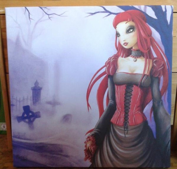 j'aime bien ca g trouvé ce tableau a 5h30 du mat devant ce magasin an vitrine
