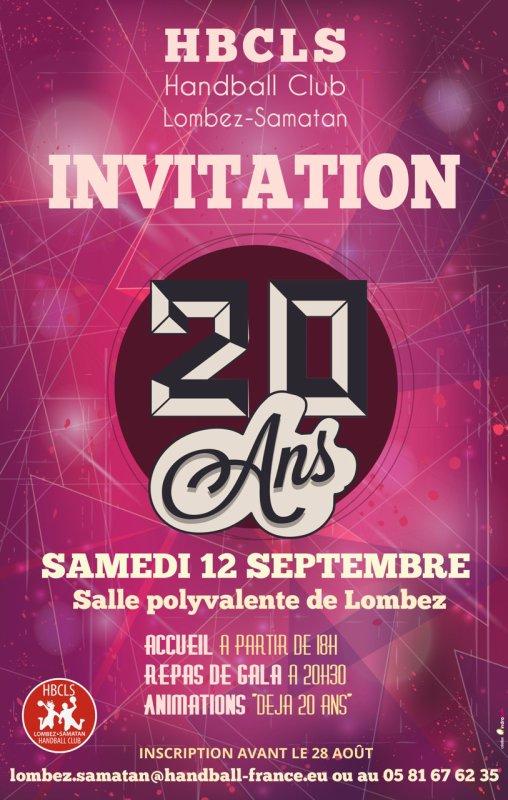 20 ans HBCLS # Samedi 12 septembre 2015