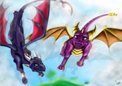Spyro et Cynder