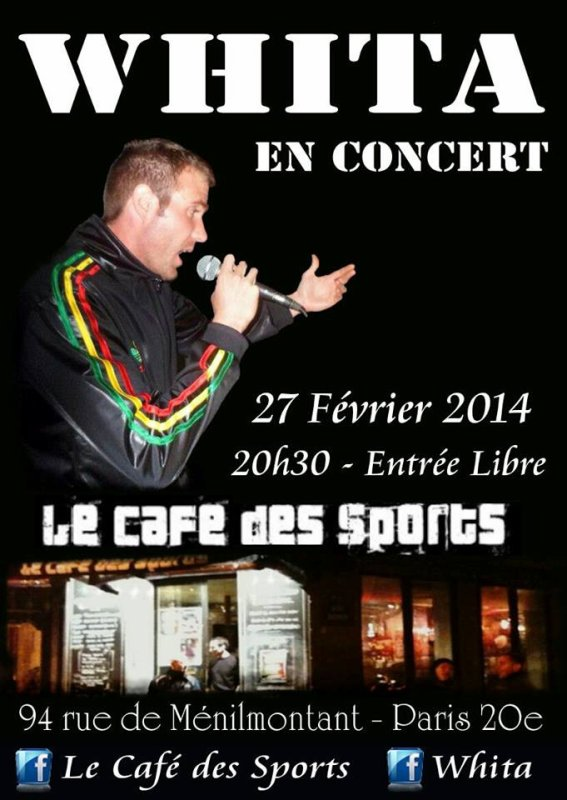 Whita en showcase au Café des Sports Paris 20e