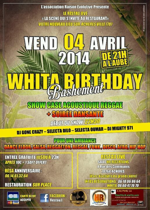Whita Birthday le 4 avril 2014