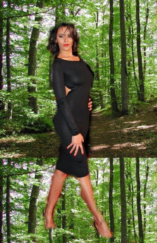 shy'm dans la forêt