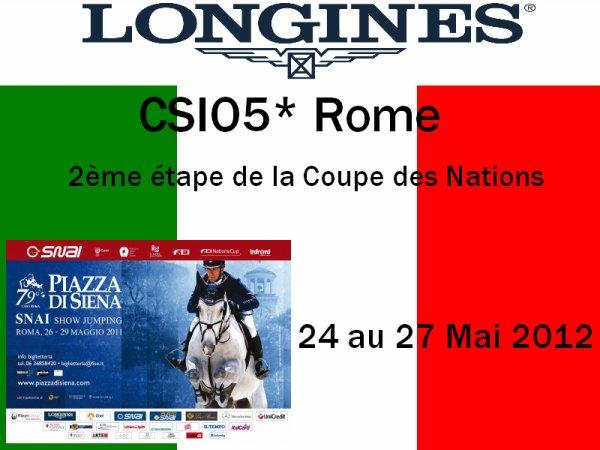 CSIO5* Rome (ITA) - 24 au 27 Mai 2012