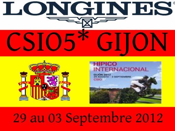 CSIO5* Gijon (ESP) - 29 Août au 03 Septembre 2012