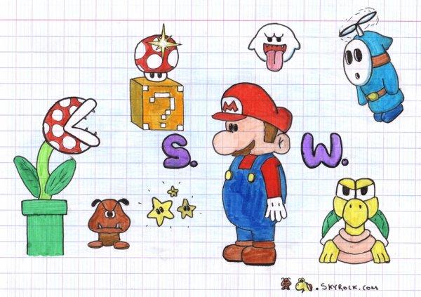 Dessin Super Mario World Goombakoopa Maskass666 Le