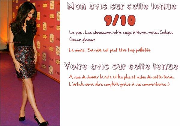 ✯ Rubrique Mode________________________________________________________________________ ~ Selena Gomez et sa tenue magnifique