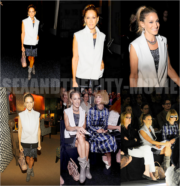 APPARITION PUBLIQUE: 14/o9/2o1o - NEW YORK CITY [ NARCISO RODRIGUEZ FASHION SHOW ]