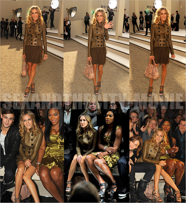 APPARITION PUBLIQUE: 21/o9/2o1o - LONDRES [ BURBERRY PRORSUM FASHION SHOW ]