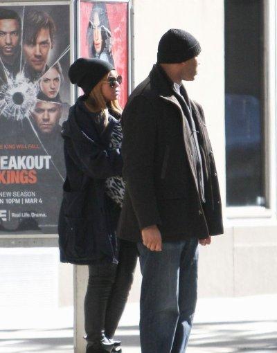 Beyonce aperçu avec son bébé  dans les rues de New York