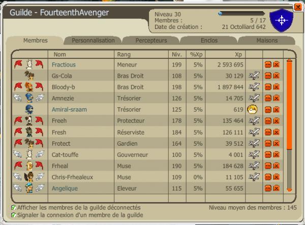 La guilde FourteenthAvenger recrute enfin !