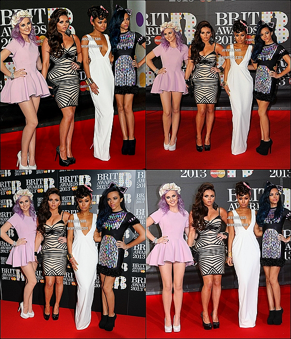 20/02/13  :  Les Little Mix posaient sur le red carpet des « Brit Awards » à Londres.