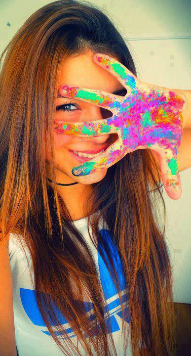 Living your life in color, this is the only secret of happiness