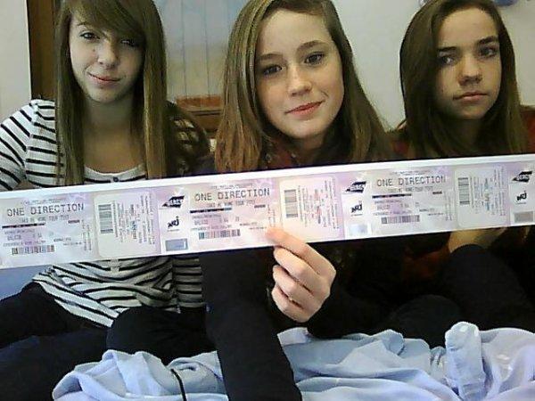 Billets pour le concert des 1D ♥♥