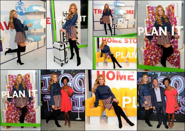 03/10/2017  —  Nina Agdal était au lancement de « Pay it Plan it », new mobile d'American Express - NYCNotre Nina, après une longue absence, nous a donc dégoté une jolie petite tenue très sexy. J'aime beaucoup l'assortiment de la jupe et des cuissardes.