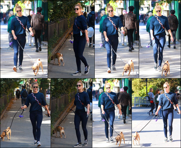 18/10/2017  —  Nina Agdal a été aperçue promenant son chien dans le « Washigton Square Park ».  - NYCTenue très simple une fois de plus mais j'adore totalement, c'est personnellement mon style à 100%. J'accorde donc, naturellement, un trop beau top!!