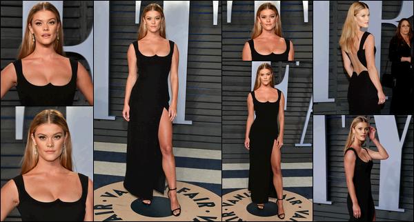 04/03/2018  — La belle blonde Nina Agdal était présente à la 2018 Vanity Fair Oscar Party. - Beverly HillsJ'adore totalement la tenue de Nina ici. C'est assez simple comme robe mais j'adore la découpe du décolleté. La mise en beauté est extraordinaire.