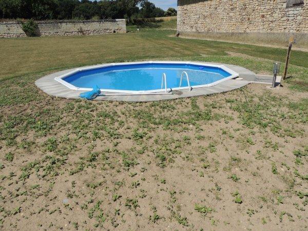 Fin des travaux de la piscine blog de renovationdunegrange for Travaux piscine