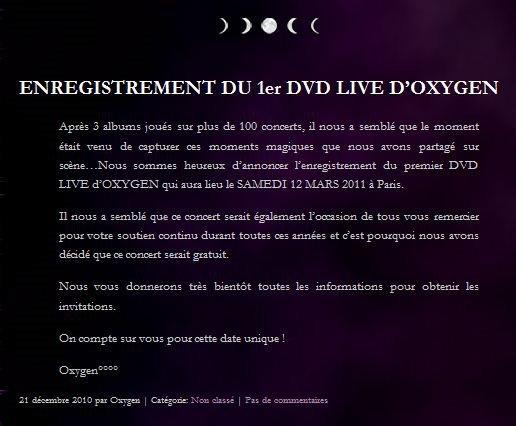 1er DVD LIVE