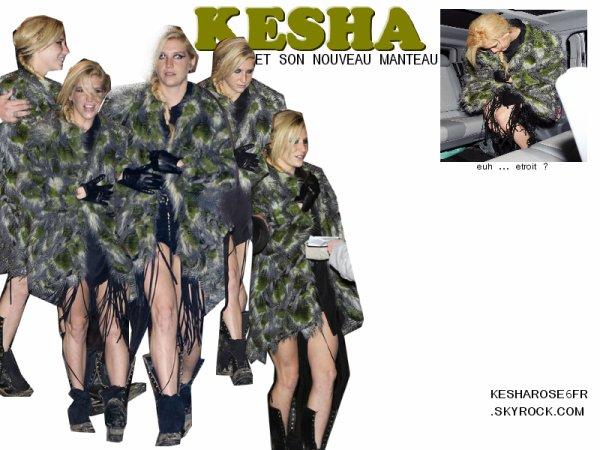 Kesha et son nouveau manteau