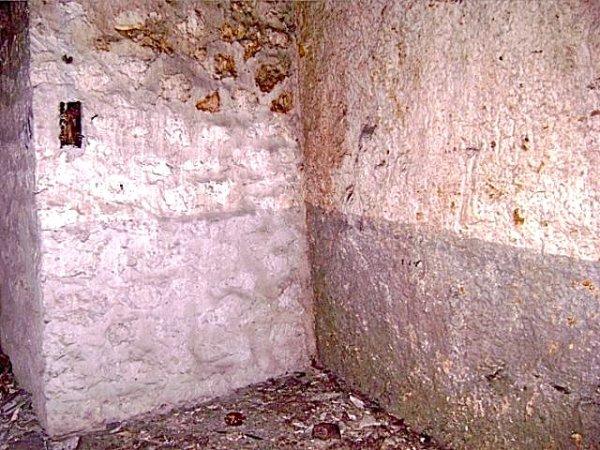 Peinture sur les mures dans un bunker