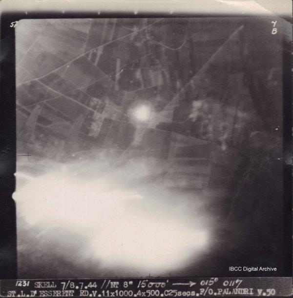 Photo alliée St Leu d'Esserent 1944