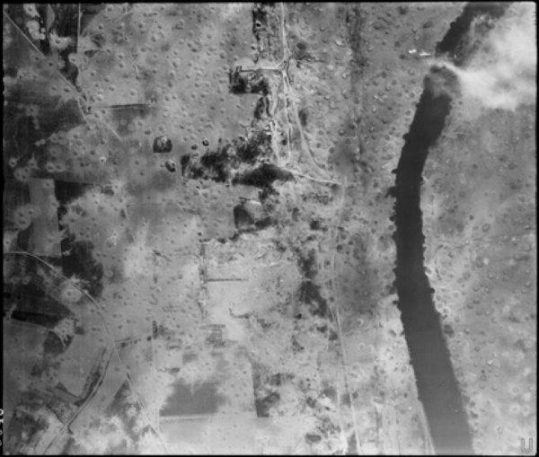 Images aérienne de St Leu d'Esserent d' EST en OUEST, Dimanche 6 aout 1944