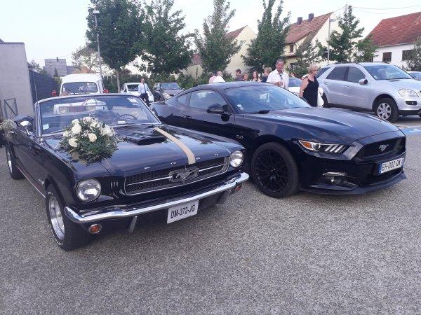 Mustang 50ans d écart entre les deux