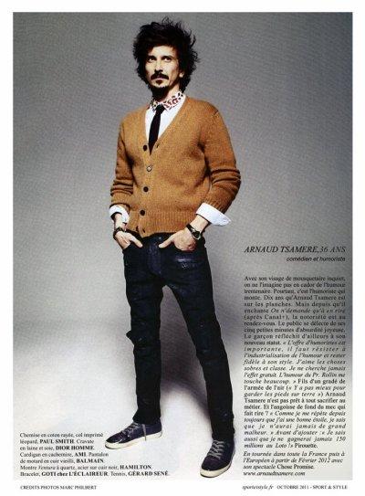 "Arnaud Tsamere dans le magazine ""Sport & Style"""