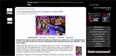 """Le DVD de """"On n'demande qu'à en rire!"""" est enfin sorti!!!!"""