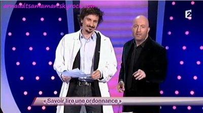Arnaud Tsamere est passé dans le sketch de Sacha Judaszko (Savoir lire une ordonnance)
