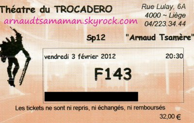 J'ai été voir le spectacle d'Arnaud Tsamere!!!!