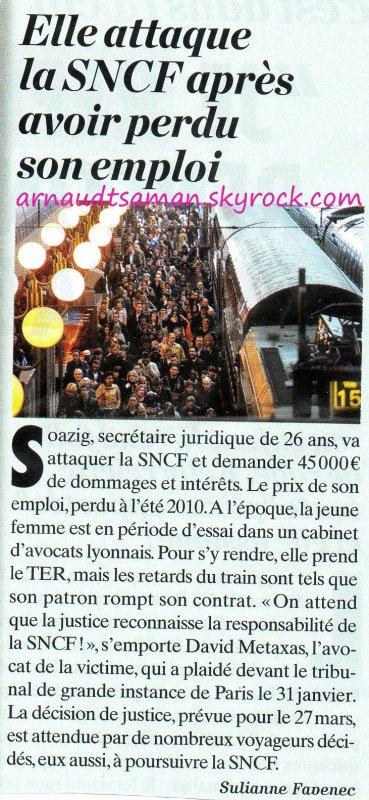 Elle attaque la SNCF pour ses retards au travail (50ème passage d'Arnaud Tsamere)